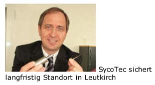 SycoTec sichert langfristig Standort in Leutkirch