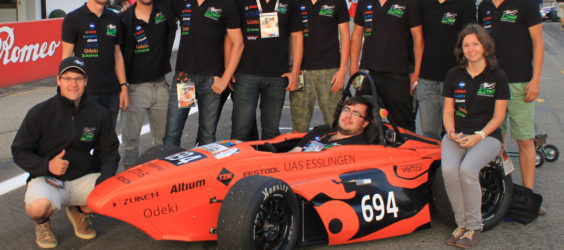 EVE '13 among the TOP10 in the Formula Student Electric