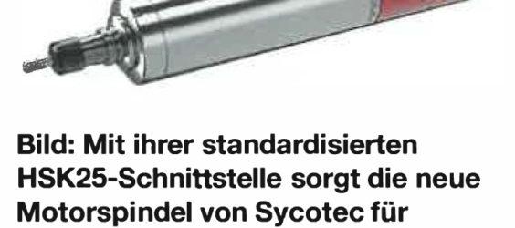 Leistungsstarke Motorspindel auch für härteste Materialien
