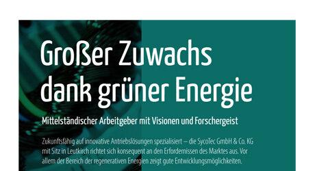 Großer Zuwachs, dank grüner Energie