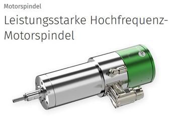 Leistungsstarke Hochfrequenz-Motorspindel