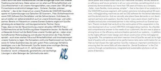 UPDATE Archiv • Perfekter Lückenschluss: KaVo setzt auf SycoTec