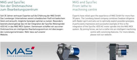UPDATE Archiv • MAS und SycoTec: Von der Drehmaschine zum Bearbeitungszentrum