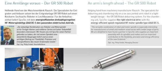 UPDATE Archiv • Eine Armlänge voraus: Der GR 500 Robot