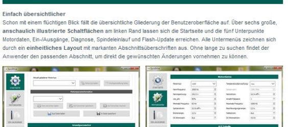 UPDATE Archiv • Alles im Blick: Neue Bediensoftware für HF-Umrichter e@syDrive®