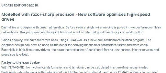 UPDATE Archiv • Messerscharf modelliert: Neue Software optimiert Highspeed-Antriebe
